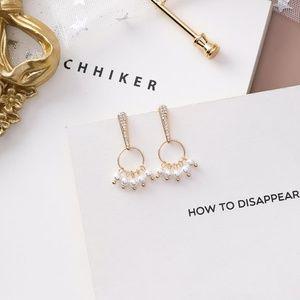 ❤️️NEW MOONLIGHT Pearl Hoop Handmade Earrings 33